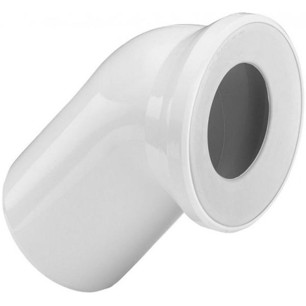 Отвод Viega 101718 45° с манжетным уплотнением Белый отвод viega 100551
