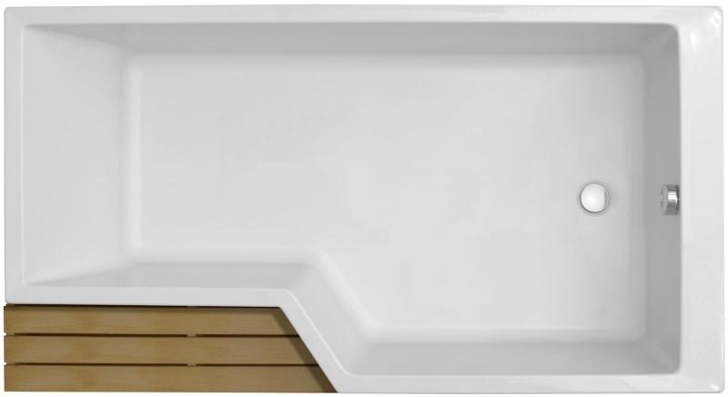 Акриловая ванна Jacob Delafon Bain Douche Neo 180x90 E6D004R-00 R без антискользящего покрытия акриловая ванна jacob delafon bain douche neo 160x90 e6d000r 00 r без гидромассажа