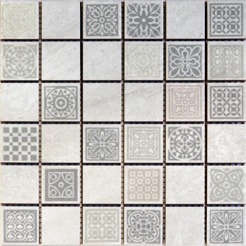 Керамическая мозаика Belleza Атриум серый 20х20 см