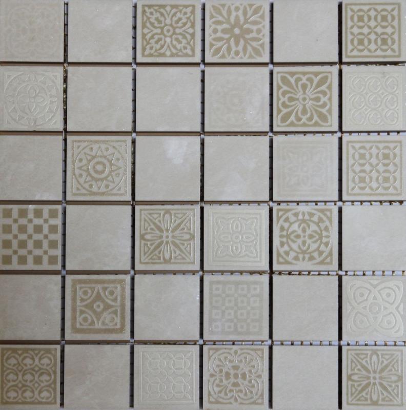 Керамическая мозаика Belleza Атриум бежевый 20х20 см