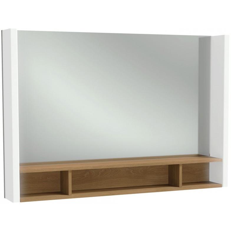 Зеркало Jacob Delafon Terrace 100 с подсветкой и полочкой Коричневое
