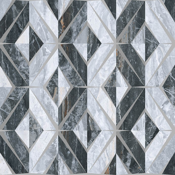 Керамический декор Vitra Bergamo Геометрический Микс Холодная гамма K946630LPR 60х60 см стоимость