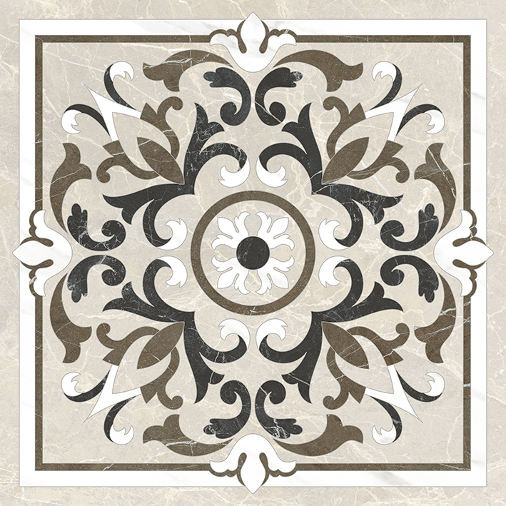 Керамический декор Vitra Marmori Medallion K945335LPR 60х60 см керамический декор vitra marmori wavy k945336lpr 60х60 см