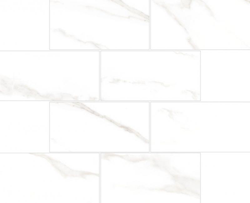 Керамическая мозаика Vitra Marmori Кирпичная Кладка Калакатта Белая K945632LPR 35,5х29 см