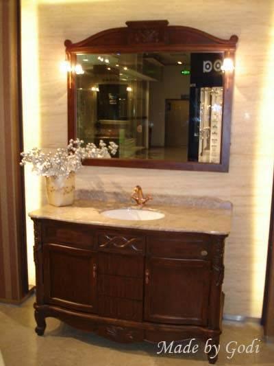 GM 10-17 коричневыйМебель для ванной<br>Мебель для ванной комнаты Godi GM 10-17. В комплектацию входят: тумба, раковина, столешница, зеркало.<br>