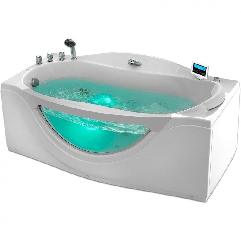 Фото - Акриловая ванна Gemy G9072 K 171х92 L с гидромассажем акриловая ванна gemy g9072 o l 171х92 l с гидромассажем