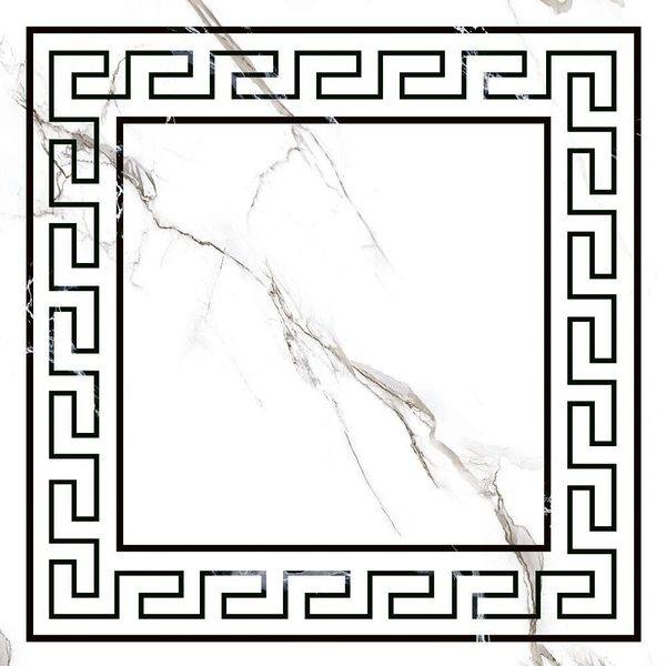 Керамический декор Grasaro Marble classic Snow White Print G-270/G/d01 40х40 см