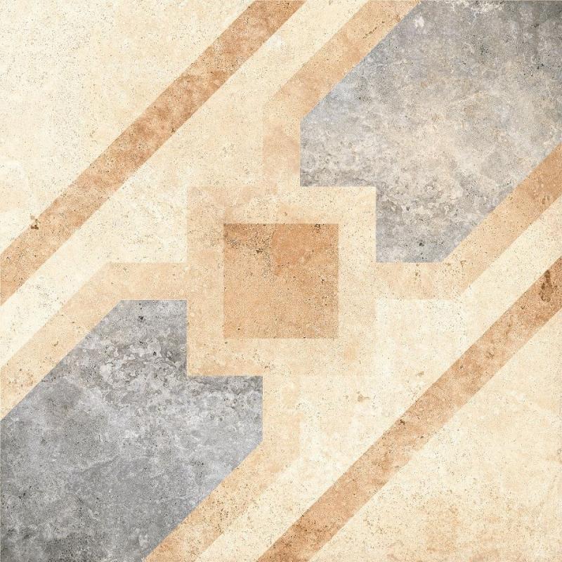 Керамический декор Grasaro Tivoli Светло-бежевый G-240/S/d04 40х40 см керамогранит grasaro tivoli серый структурированный g 242 s 40х40 см