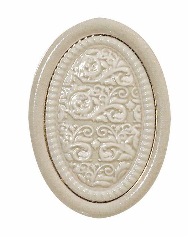 Керамический декор El Molino Siros Medallon Dario Oro-Marfil 10х14 см
