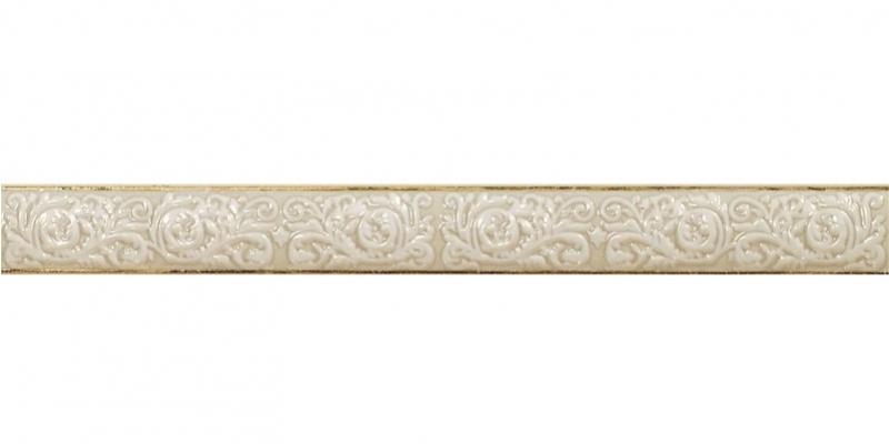 Керамический бордюр El Molino Siros Moldura Dario Oro-Marfil 3х30 см