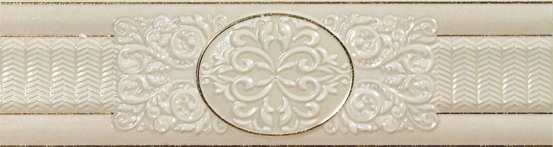 цены Керамический бордюр El Molino Siros Dario Decor Oro-Marfil 8х30 см