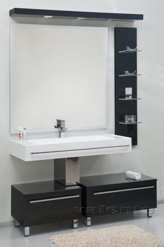 Severita 9 покрытие металлик раковина жемчуг S33Мебель для ванной<br>Цена указана за модуль S33 (покрытие металлик, раковина жемчуг). Раковина прямоугольной формы из искусственного камня. В комплектацию раковины входит хромированный сифон. Слив сифона закрывают декоративные крышечки, не препятствующие стеканию воды.<br>