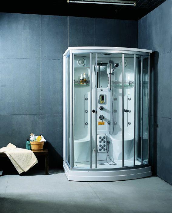 A-238 с гидромассажемДушевые кабины<br>Душевая кабина Appollo A-238 гидромассажная, белого цвета. В комплект входят: турецкая баня, душ, массаж тела и ног, радио, электронная панель управления, подсветка в кабине, подключение к CD, прием телефонных звонков, озонирование, сидение, смеситель, вентиляция. Все остальное приобретается дополнительно.<br>