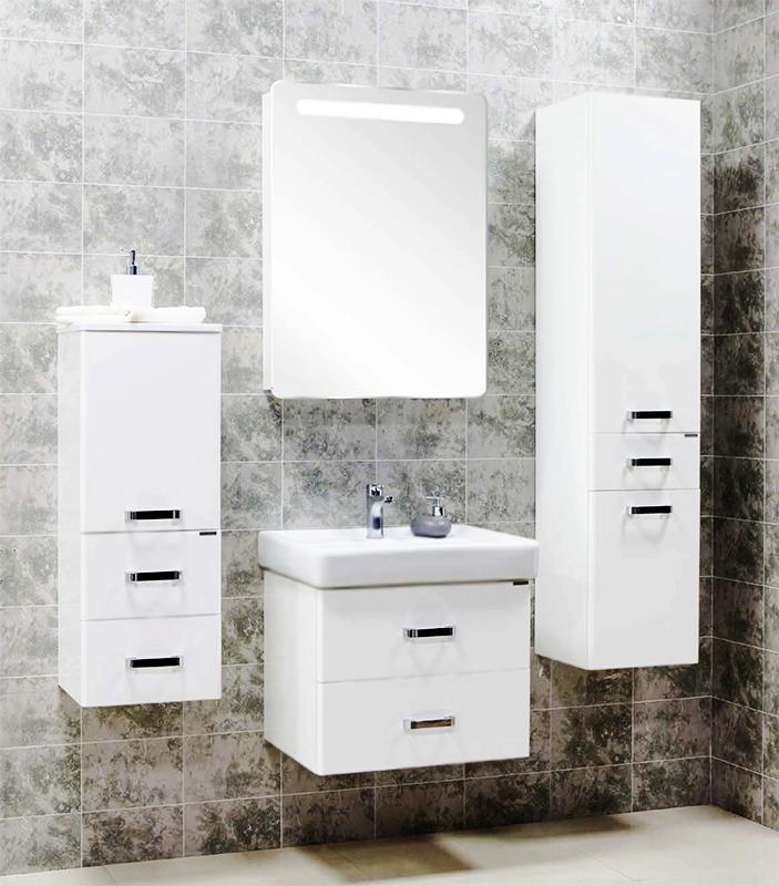 Америна 60 Черная глянцеваяМебель для ванной<br>Тумба под раковину Акватон Америна 60 1A135401AM950.<br>Лаконичная и стильная модель с двумя выдвижными ящиками.<br>Особенности:<br>Нижний ящик - широкий и вместительный. Он предназначен для хранения крупных предметов. В верхнем ящике устроена удобная организация пространства, позволяющая хранить мелкие вещи.<br>Вместительные ящики, рассчитанные на нагрузку до 25 кг.<br>Направляющие нижнего крепежа обеспечивают жесткое и надежное крепление ящиков.<br>Плавный ход ящиков со встроенными доводчиками. <br>Организовано нижнее подключение труб водоснабжения и канализации. <br>Материал корпуса: ДСП с ламинированным покрытием. Этот материал обладает повышенной влагостойкостью и сопротивляемостью износу. <br>Материал фасандых деталей: МДФ с пятислойной покраской.<br>