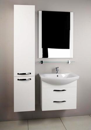 Ария 65 М Темно-коричневая глянцеваяМебель для ванной<br>Тумба под раковину Акватон Ария 65 М 1A123301AA430.<br>Вместительная и лаконичная модель.<br>Особенности:<br>С двумя выдвижными ящиками, шариковыми направляющими и усиленными навесами.<br>Организовано нижнее подключение труб водоснабжения и канализации. <br>Материал корпуса: ДСП с ламинированным покрытием. Этот материал обладает повышенной влагостойкостью и сопротивляемостью износу. <br>Материал фасандых деталей: МДФ с пятислойной покраской.<br>