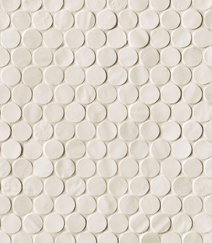 Керамическая мозаика Fap Ceramiche Brooklyn Round Snow Mos. 29,5х32,5 см керамическая плитка fap ceramiche roma nat calacatta mos 30 5х30 5 мозаика