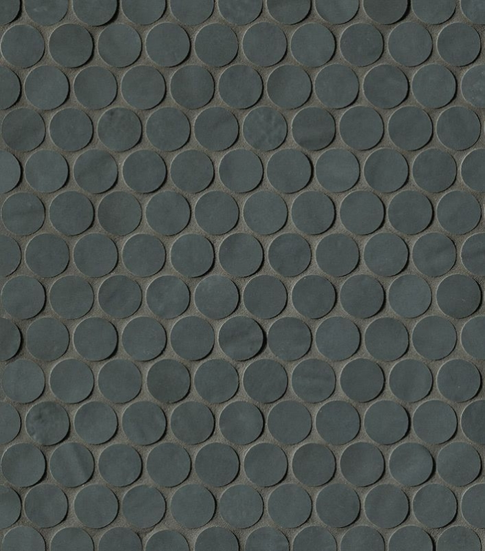 Керамическая мозаика Fap Ceramiche Brooklyn Round Carbon Mos. 29,5х32,5 см