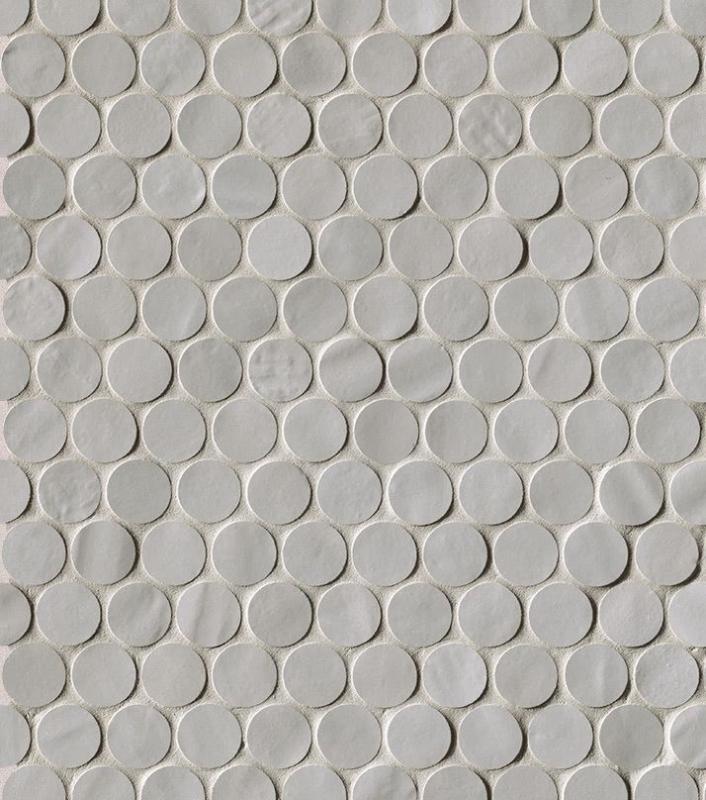 Керамическая мозаика Fap Ceramiche Brooklyn Round Fog Mos. 29,5х32,5 см