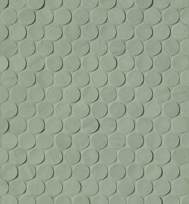 Керамическая мозаика Fap Ceramiche Brooklyn Round Leaf Mos. 29,5х32,5 см керамическая плитка fap ceramiche roma nat calacatta mos 30 5х30 5 мозаика