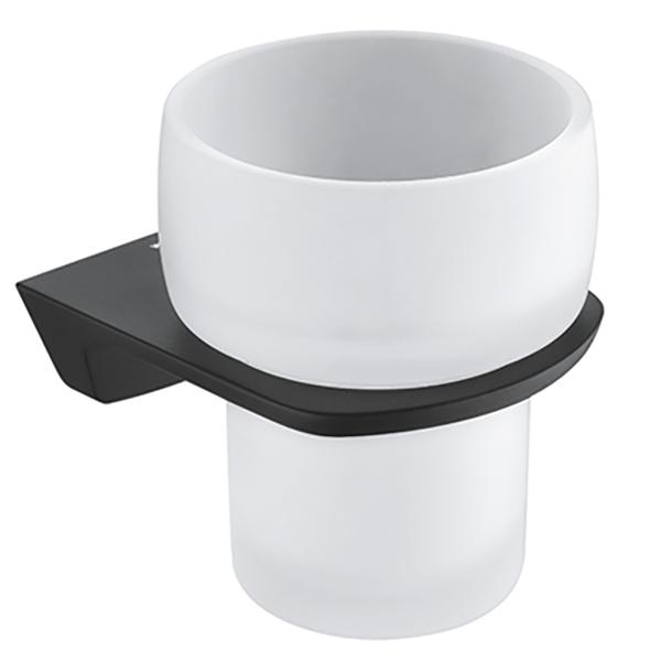 Стакан для зубных щеток WasserKRAFT Elbе K-7228 Черный полка для ванной комнаты wasserkraft k 588