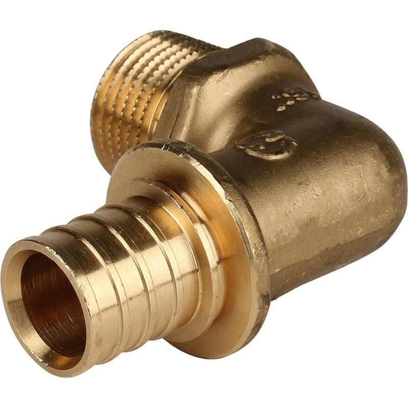 Фото - Угольник - переходник Stout SFA-0005-002012 для труб из сшитого полиэтилена переходник