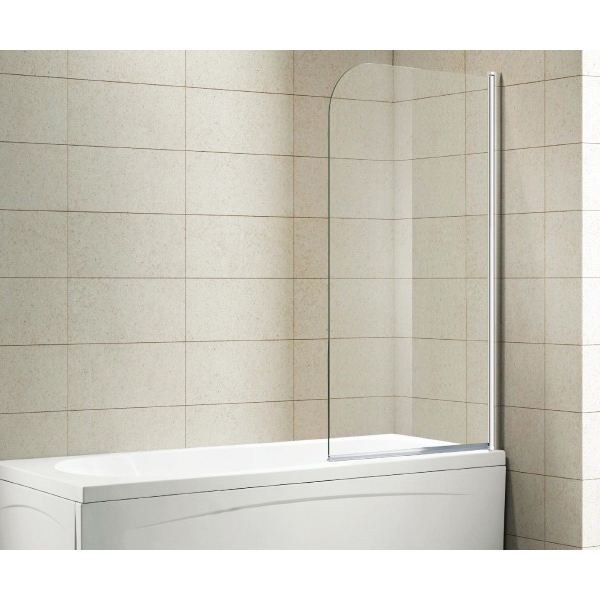 Шторка на ванну Alvaro Banos Oviedo 75x150 профиль Хром стекло прозрачное шторка на ванну aquanet malta 150х150х135 см 154814