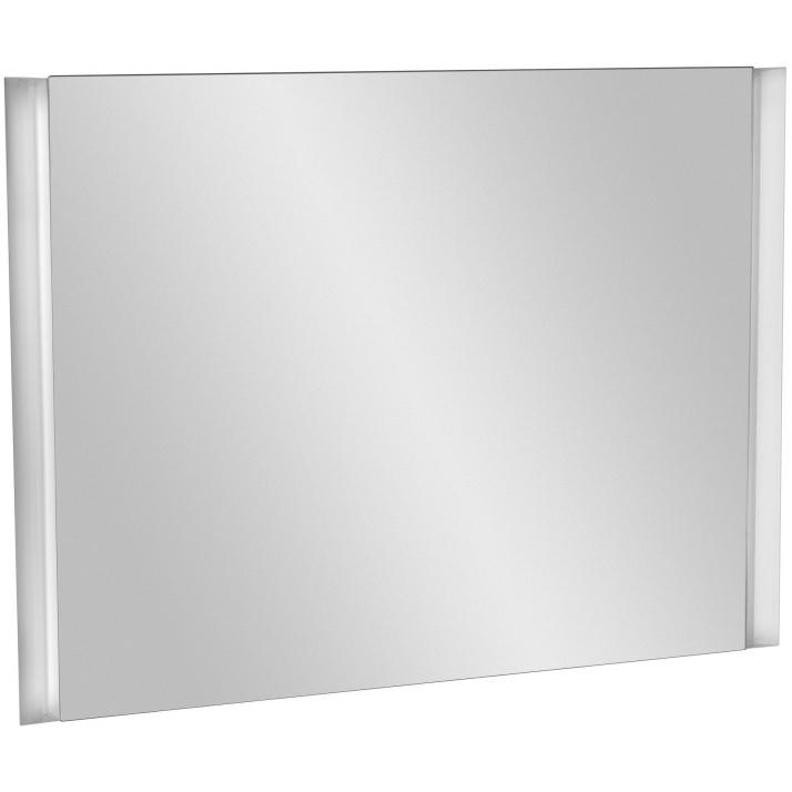 Reve 80 без отделкиМебель для ванной<br>Зеркало Jacob Delafon Reve 80 EB582-NF с подсветкой.<br>Смягченные углы и плавные линии придадут интерьеру ванной комнаты особый шик.<br>Изготовлено из ДСП с применением меламина - специальной декоративной пленки. Меламин устойчив к механическим повреждениям и истиранию, не боится влаги.<br>Покрытие: лак.<br>Гладкая глянцевая поверхность.<br>Флуоресцентная подсветка с пониженным потреблением электроэнергии (2x24 Вт).<br>Сенсорный инфракрасный выключатель.<br>В комплекте поставки: зеркало.<br>