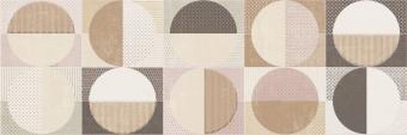 Керамический декор Cifre Cromatica Decor Circles Warm Brillo 25х75 см