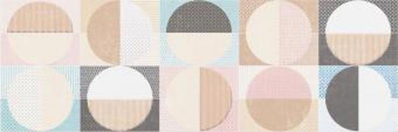 Керамический декор Cifre Cromatica Decor Circles Cold Brillo 25х75 см