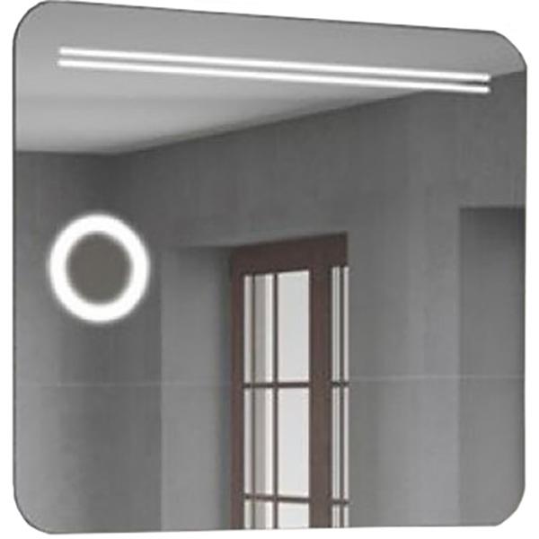 настенное зеркало с увеличительным эффектом и сенсорным включателем подсветки valera optima light smart 207 09 Зеркало Comforty Лондон 90 4140523 с подсветкой и сенсорным выключателем