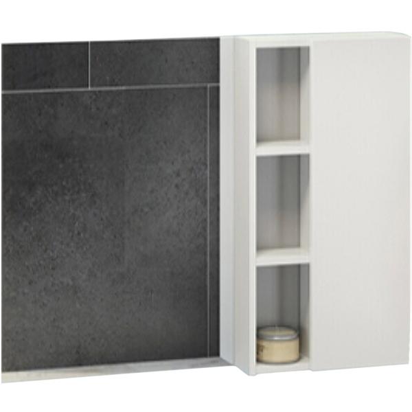 Зеркало со шкафом Comforty Милан 90 4137130 Белый глянец цена и фото