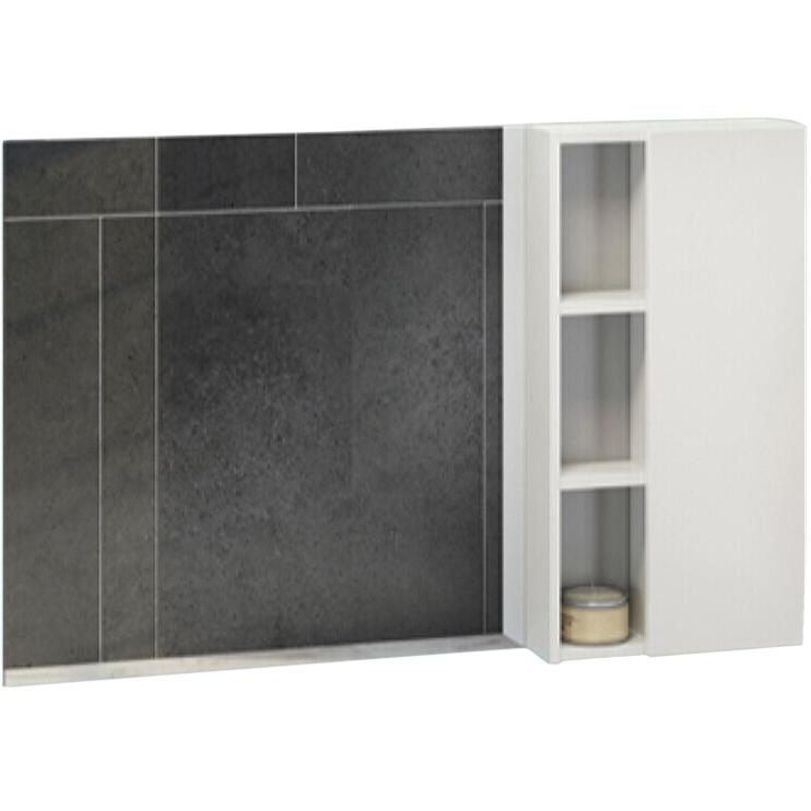 Зеркало со шкафом Comforty Милан 120 4136261 Белый глянец цена и фото