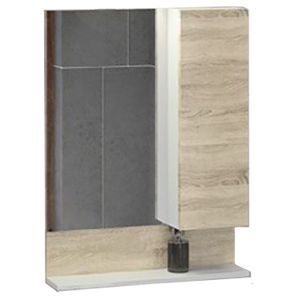 Зеркало со шкафом Comforty Рига 60 4142211 Дуб сонома цена и фото