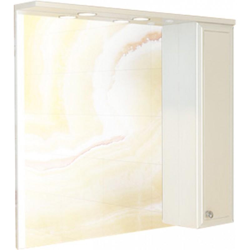 Зеркало со шкафом Comforty Сочи 100 3132226 Белый глянец