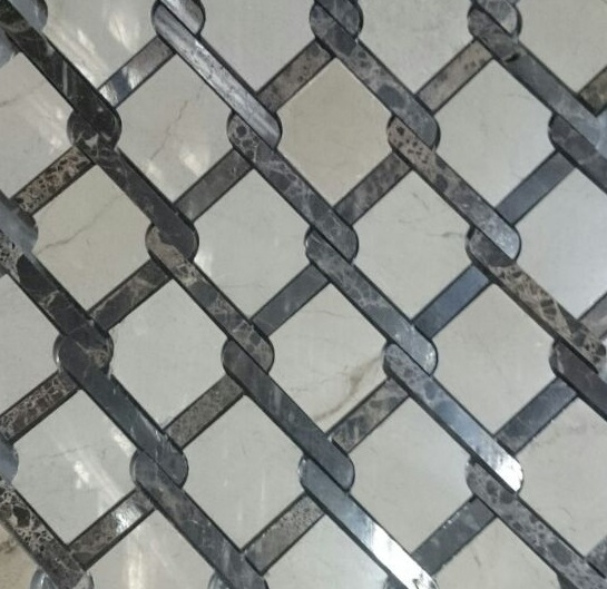 Каменная мозаика Colori Viva Emperador Mos.Victorian Polished Crema Marfil + Dark CV20161 28,4х32,2 см каменная мозаика colori viva emperador mos mix cv20090 30 5х30 5 см