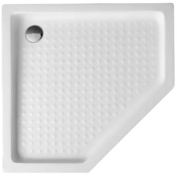 Tray A P 90x90x15 БелыйДушевые поддоны<br>Цельнолитой акриловый душевой поддон Cezares Tray A P 90x90x15 TRAY-A-P-90-15-W пятиугольный, в форме призмы, низкий.<br>Материал: высококачественный акрил. <br>Эффективное звукопоглощение.<br>Гладкая и теплая на ощупь поверхность.<br>Антискользящее массажное покрытие дна.<br>Неприхотливость в уходе. <br>Диаметр сливного отверстия: 9 см.<br>Пропускная способность сифона: 30 л/мин.<br>Монтаж: на пол/на подиум, в угол.<br>Металлический каркас с регулируемыми ножками.<br>В комплекте поставки:<br>душевой поддон;<br>каркас с ножками;<br>сифон.<br>