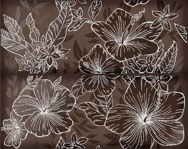 Керамическое панно Керлайф Elissa Flore Marrone 1с 40,2х50,5 см