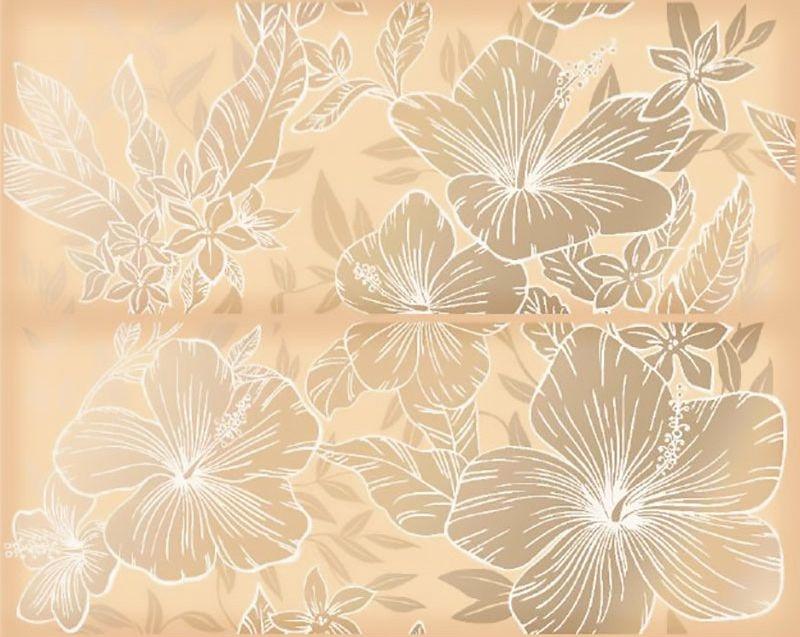 Керамическое панно Керлайф Elissa Flore Sabbia 1с 40,2х50,5 см