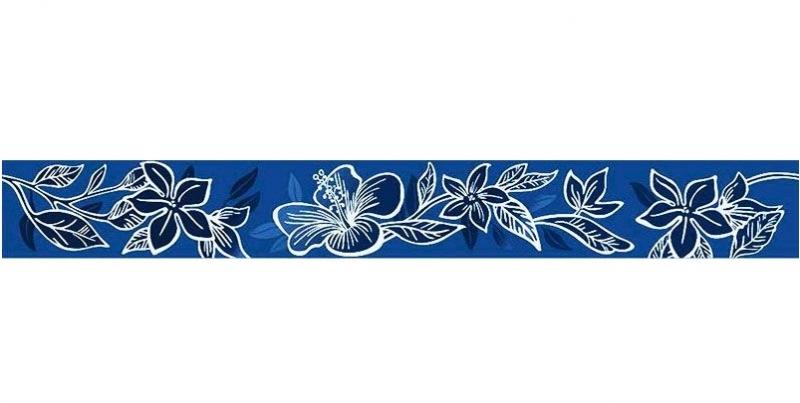 Керамический бордюр Керлайф Elissa Flore Blu 6,2х50,5 см