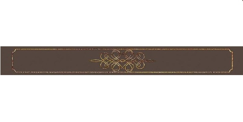 Керамический бордюр Керлайф Elissa Bello Marrone 6,2х50,5 см
