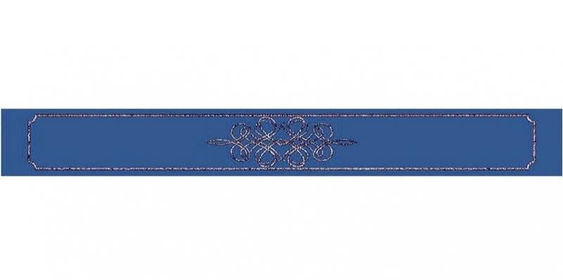 Керамический бордюр Керлайф Elissa Bello Blu 6,2х50,5 см bello 7610 b