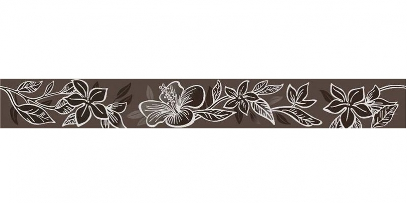 Керамический бордюр Керлайф Elissa Flore Marrone 1с 6,2х50,5 см