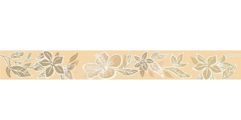Керамический бордюр Керлайф Elissa Flore Sabbia 1с 6,2х50,5 см