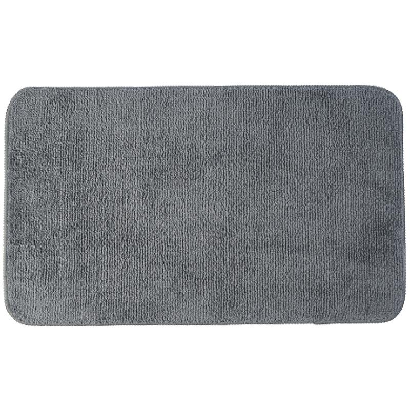 коврик противоскользящий joyarty композиция на песке для ванной сауны бассейна 75х45 см Коврик для ванной комнаты WasserKRAFT Vils BM-1061 Черный