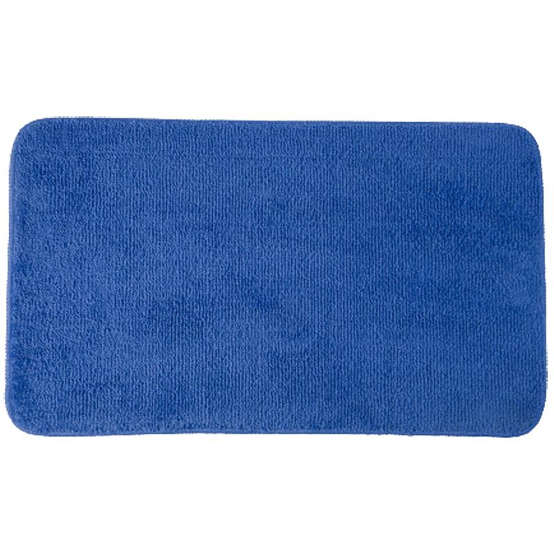 коврик противоскользящий joyarty композиция на песке для ванной сауны бассейна 75х45 см Коврик для ванной комнаты WasserKRAFT Vils BM-1071 Синий