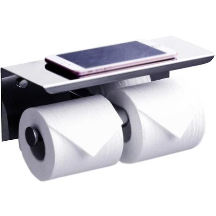 Держатель туалетной бумаги Rush Edge ED77142А двойной Хром держатель туалетной бумаги rush edge двойной с полкой для телефона хром ed77142a