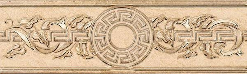 Керамический бордюр Керлайф Eterna Beige 1 20,1х6,2 см 65 rose beige