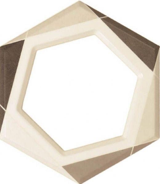 Керамический декор Fanal Lino Decor Frame Crema 24,7х21,5 см