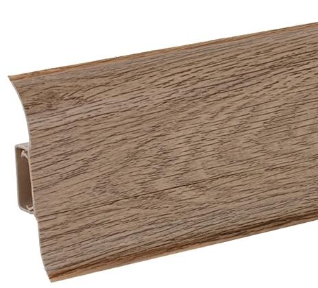 Плинтус Ideal Comfort с кабель каналом Дуб оливье 220 2500х55х22 мм кабель