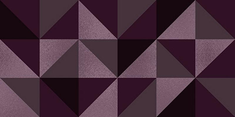 Керамический декор Керлайф Stella Geometrico Viola 1C 31,5х63 см